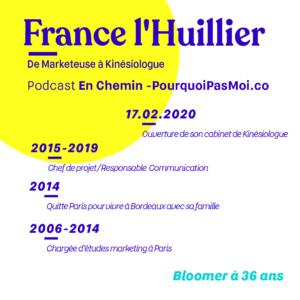 france l'huillier podcast bio